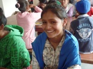 Children learning in Nepal