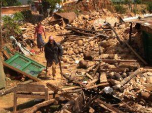 Nepal Village rubble